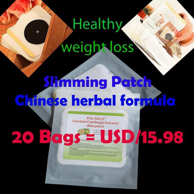 20 Bags Slim Patch Chinese herbal formula Healthy weight loss Burning Fat Patch Body Shaping Slimming Diet Products Detox Patch - Roshyshine