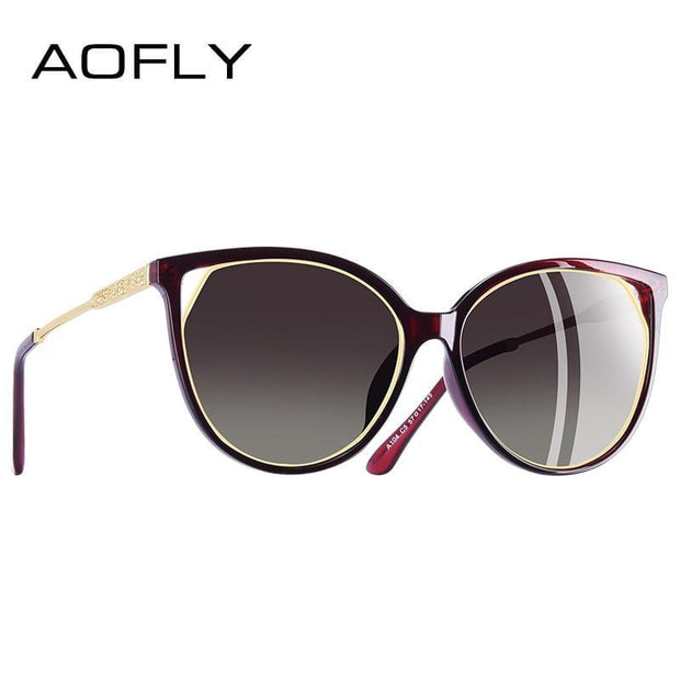 AOFLY Cat Eye Sunglasses For Women's Polarized Fashion - Roshyshine