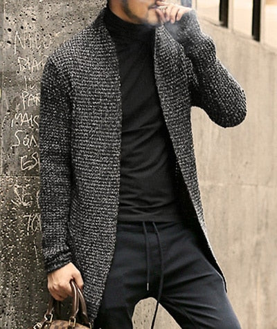 Men Sweater Long Sleeve Cardigan Males Pull style cardigan Clothing Fashion Thick warm Mohair Sweater Men england style hot J511 - Roshyshine