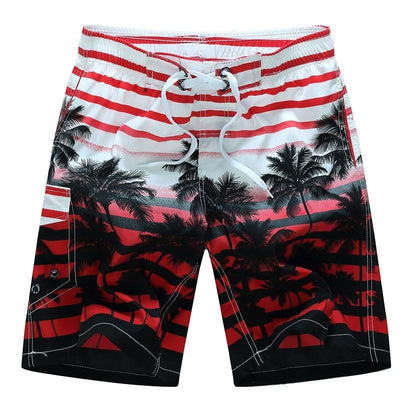 2019 new summer hot men beach shorts quick dry coconut tree printed elastic waist 4 colors M-6XL drop shipping AYG219 - Roshyshine