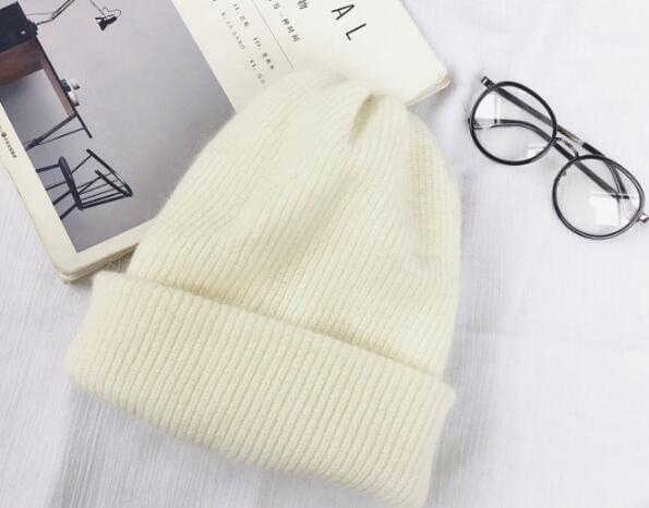 Autumn winter rabbit hair Winter skullies Hat fashion warm beanies hats casual women solid adult rabbit caps cover head - Roshyshine