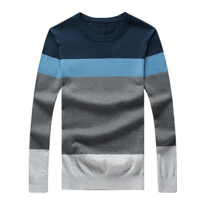 BSETHLRA 2019 New Sweater Men Autumn Hot Sale Top Design Patchwork Cotton Soft Quality Pullover Men O-neck Casual Brand Clothing - Roshyshine