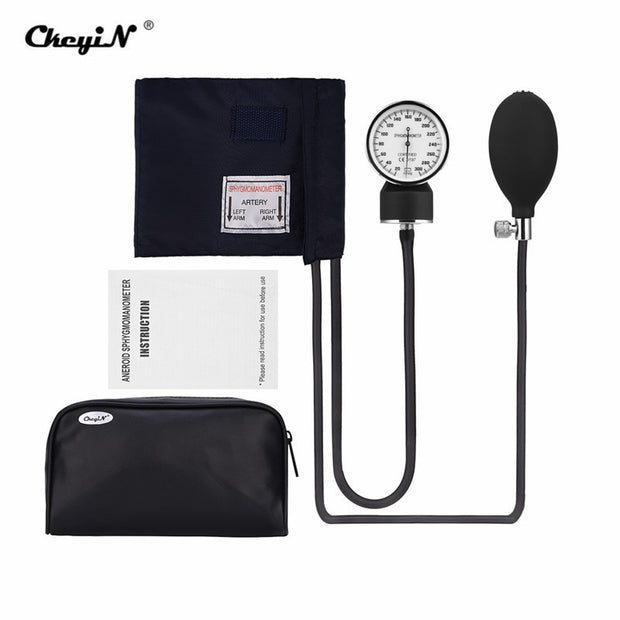 Manual Blood Pressure Monitor Cuff High Precision Aneroid Sphygmomanometer Upper Arm Blood Pressure Meter Kit + Storage Bag 35 - Roshyshine