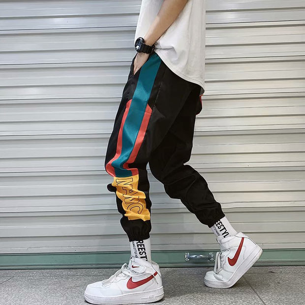 Hip Hop Streetwear Men's Splice Joggers Pants Fashion Men Casual Cargo Pant Trousers High Street Elastic Waist Harem Pant Men - Roshyshine