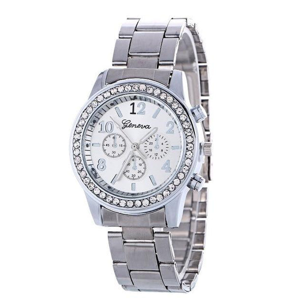 Best Selling Women Watch With  Luxury Crystal Rhinestone Stainless Steel Quartz WristWatches - Roshyshine