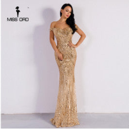 Missord 2019 Sexy bra party dress sequin maxi dress FT4912 - Roshyshine