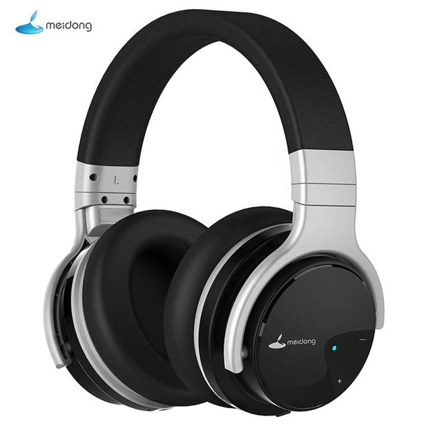 Meidong E7B Active Noise Cancelling wireless headphones with microphone ANC Bluetooth headset high fidelity deep bass headphones - Roshyshine