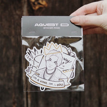 Load image into Gallery viewer, AGUST D / D-2 Tattoo Flash Sticker Pack