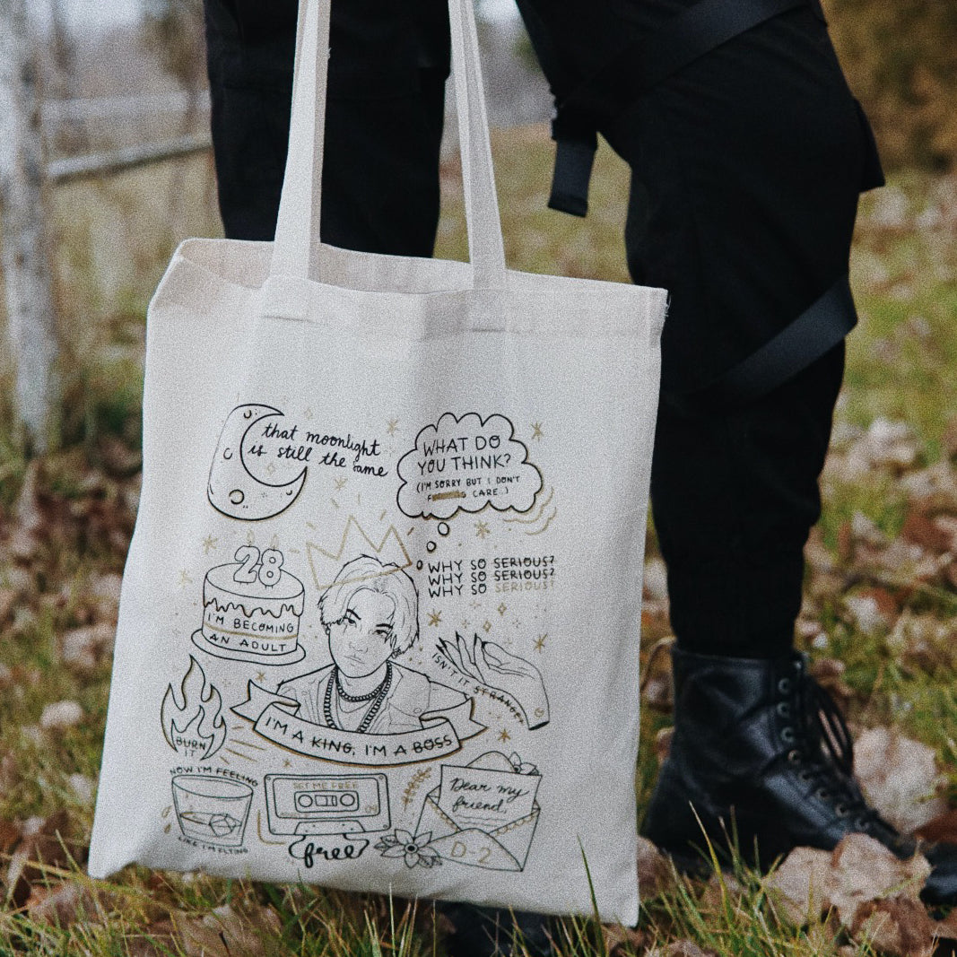 AGUST D / D-2 Tattoo Flash Tote Bag