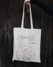 Load image into Gallery viewer, AGUST D / D-2 Tattoo Flash Tote Bag