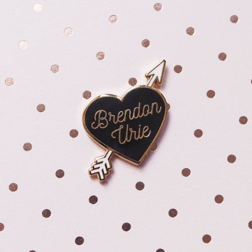 Brendon Heart Hard Enamel Pin