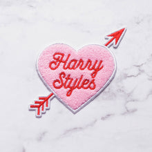 Load image into Gallery viewer, Harry Styles Heart Embroidered Chenille Iron-On Patch