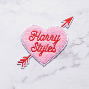 Harry Styles Heart Embroidered Chenille Iron-On Patch