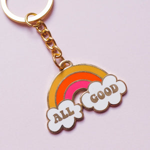 All Good Hard Enamel Keychain