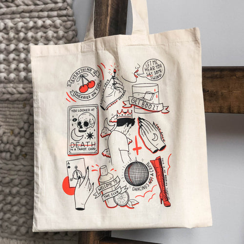 Tattoo Flash Sheet Tote Bag