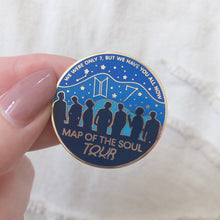 Load image into Gallery viewer, BTS Map Of The Soul Tour - OT7 - Hard Enamel Pin
