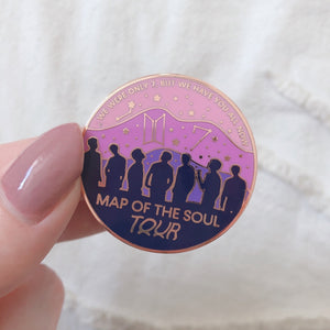 BTS Map Of The Soul Tour - OT7 - Hard Enamel Pin