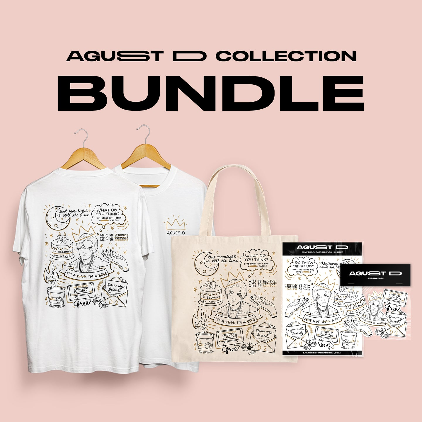 PRE-ORDER - AGUST D / D-2 Tattoo Flash Collection Bundle