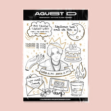 Load image into Gallery viewer, PRE-ORDER - AGUST D / D-2 Tattoo Flash Collection Bundle