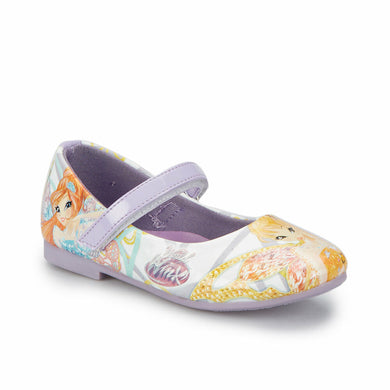 Girl's Patterned Lilac Basic Shoes