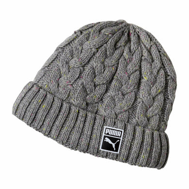 Women's Braided Grey Beanie