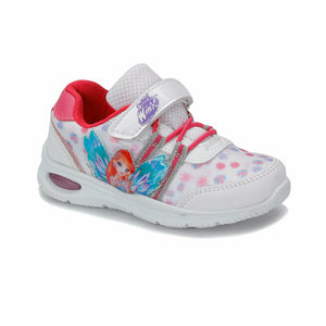 Girl's Printed White Sport Shoes