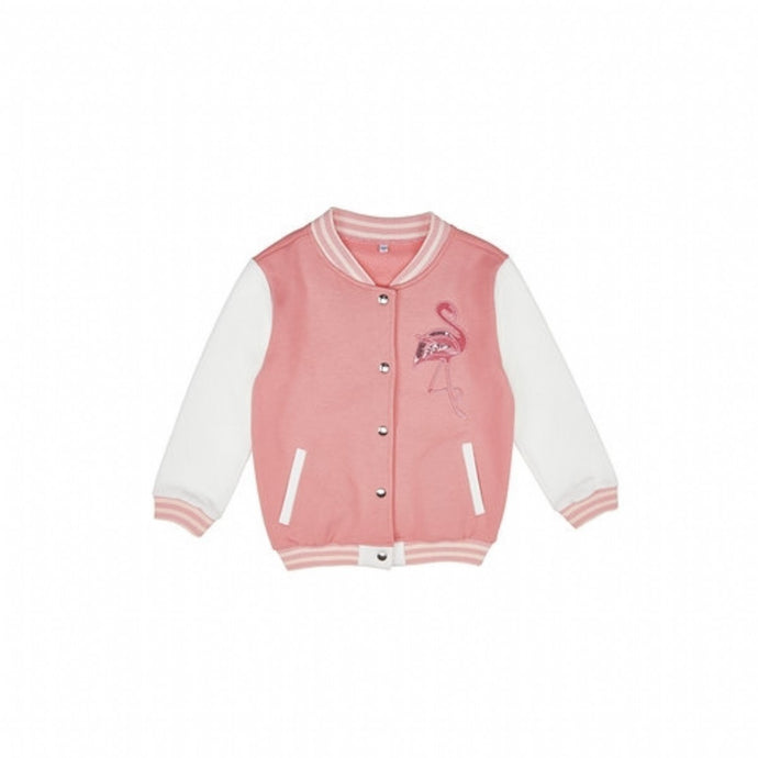 Girl's Embroidered Pink Cardigan