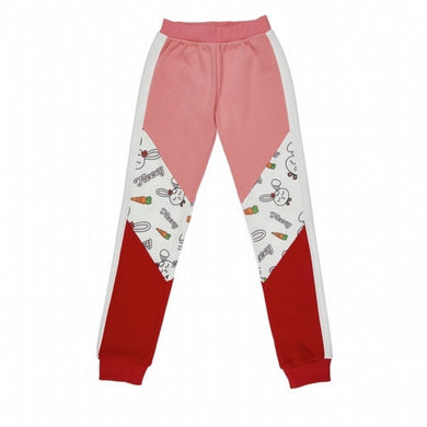 Girl's Side Stripe Printed Color Block Sweatpants
