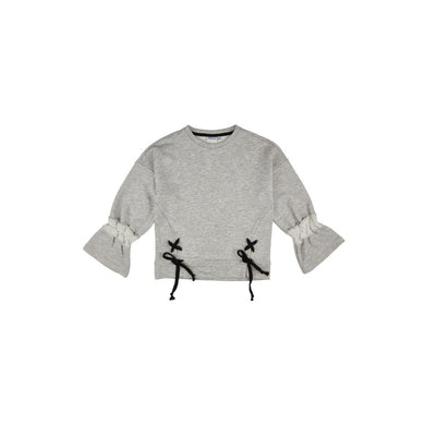 Girl's Grey Melange Sweatshirt