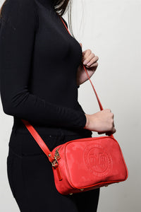 Women's Zipper Red Bag