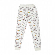 Load image into Gallery viewer, Girl's Rabbit Print White Sweatpants