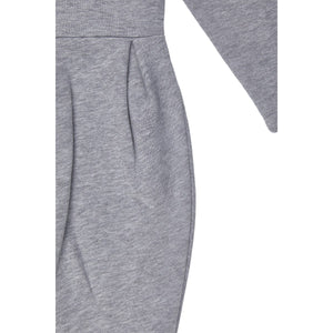 Girl's Hooded Grey Melange Dress