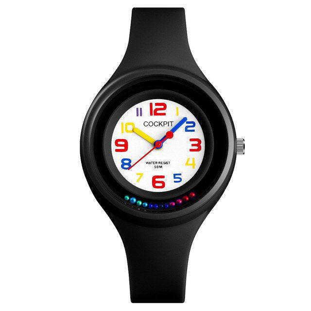 Women's Round Case Black Watch