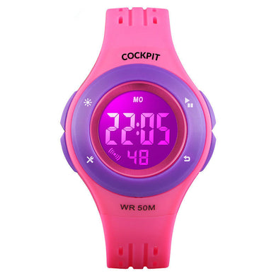 Kid's Pink Plastic Watch