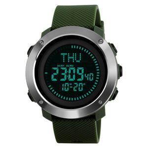 Men's Round Case Green Watch