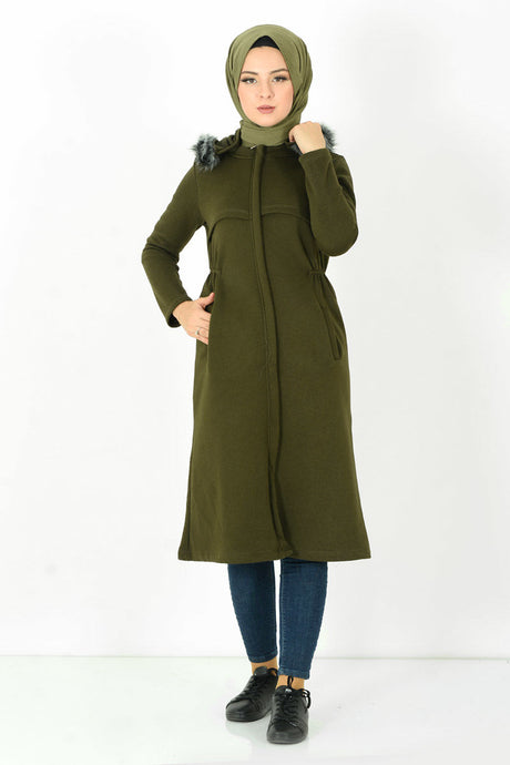 Women's Hooded Khaki Seasonal Jacket