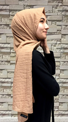 Women's Checkered Mustard Shawl