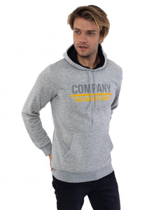 Men's Hooded Khaki Fleece Sweatshirt