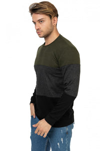 Men's Color Block Sweatshirt