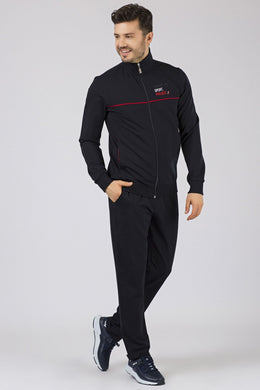 Men's Printed Navy Blue Sweat Suit