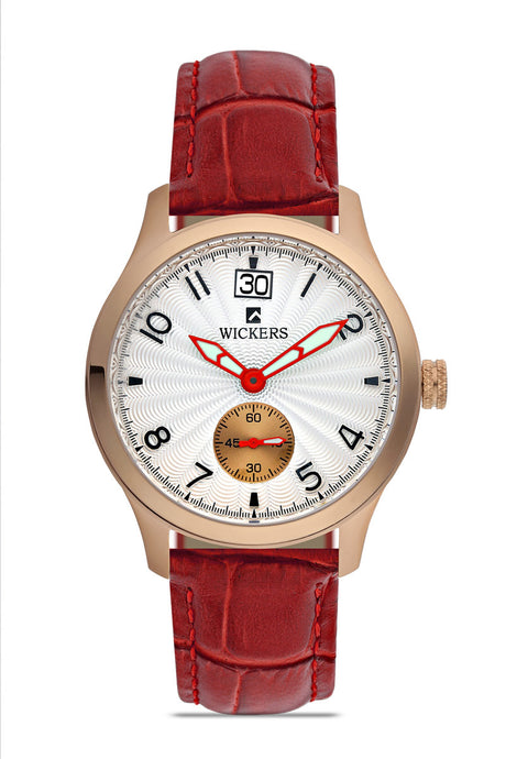 Women's Metal Case Claret Red Strap Watch