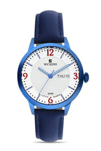 Load image into Gallery viewer, Women's Metal Case Navy Blue Leather Watch
