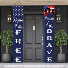 Load image into Gallery viewer, PATRIOTIC SOLDIER PORCH SIGN BANNERS
