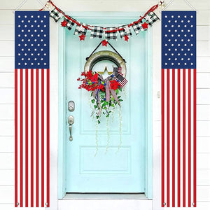 PATRIOTIC SOLDIER PORCH SIGN BANNERS