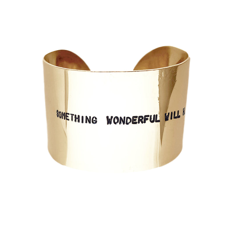 Bracciale SOMETHING WONDERFUL WILL HAPPEN