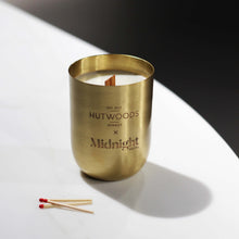 Load image into Gallery viewer, HUTWOODS X Midnight Hotel Wood Wick Soy Candle