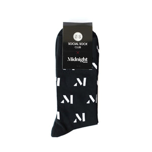 Midnight Hotel Business Socks