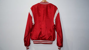 Houston rockets red satin 80's jacket