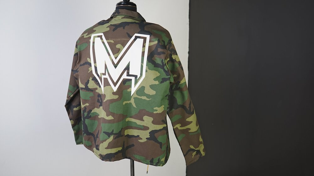 MAGIK CAMO BUTTON COACH OVERSHIRT