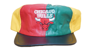 CHICAGO BULLS LEATHER COLORBLOCK 80'S